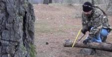 Ağaç kütüğünden ocak yapımı
