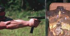 Glock tabanca ile balistik jele ateş edilirse ne olur?